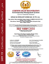 EQL ISO 14001 GOKCE Certificate