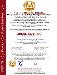 EQL ISO 18001 GOKCE Certificate